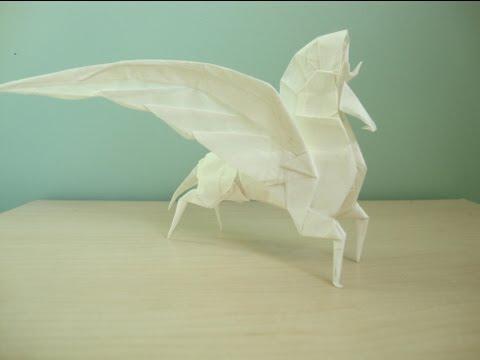 Оригами Пегас за схемой