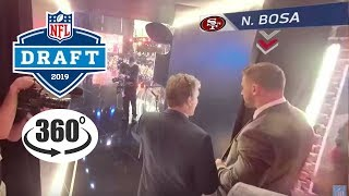 Behind the Scenes of the NFL Draft in 360!