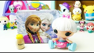 Baby Doll Refrigerator Toys and Pororo Food Toys Frozen Elsa