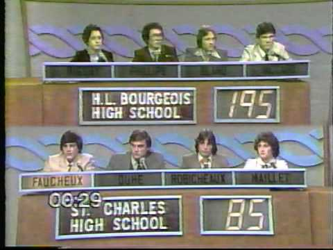 Varsity Quiz Bowl - 1980-81 - H. L. Bourgeois HS vs St. Charles High School