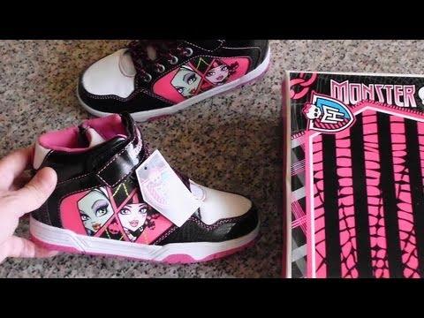 Halloween Monster High Girls Shoes Draculaura & Frankie Stein - Buty