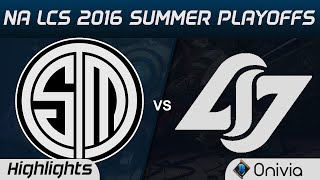 TSM vs CLG Highlights Game 1 NA LCS 2016 Summer Playoffs Semi Finals Team Solo Mid vs Counter Logic