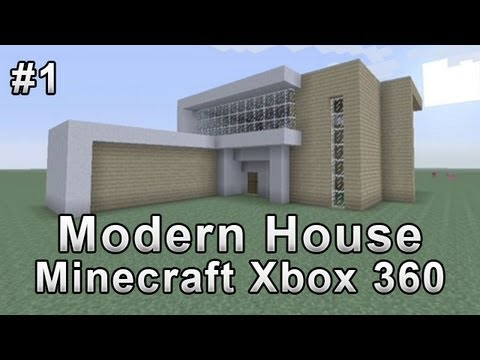 Modern house tutorial minecraft xbox 360 1 youtube for Modern house 360