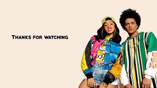 Bruno Mars - Finesse (Remix) Feat. Cardi B (Lyrics)