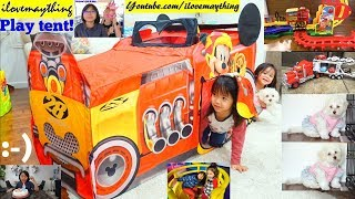 Disney Junior Mickey Mouse Roadster Racers Play Tent. Kids' Toy Train, Toy Cars and Toy Trucks