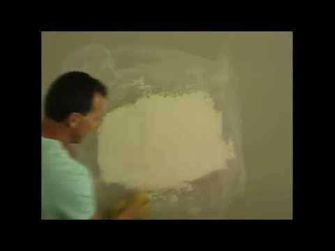 How to fix hole in Drywall/Sheetrock/wall and texture 4
