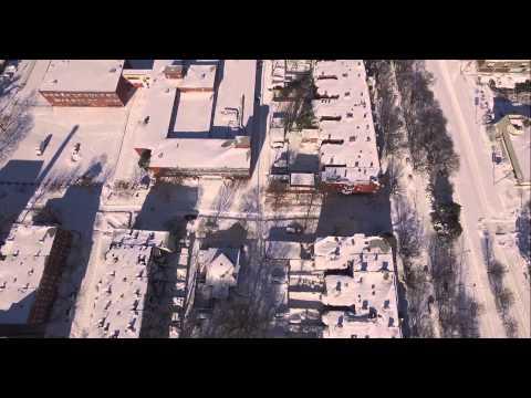 Empty Streets of Baltimore Impressive Aerial View Baltimore Jonas Blizzard 2016