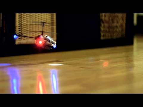 GH2 Hack Test (Slow Motion): Gyropter Mini RC Helicopter Crash