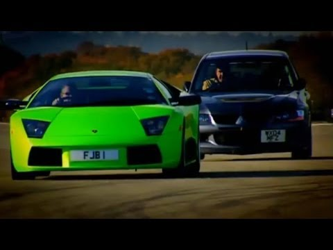Evo vs Lamborghini Part 1 - Top Gear - BBC