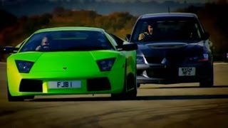 Evo vs Lamborghini Part 1 - Top Gear - BBC