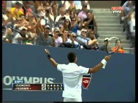 Us Open 2011 -- Novak Djokovic saves Match Point vs Roger Federer