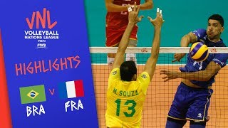 BRAZIL vs. FRANCE - Highlights Men | Week 5 | Volleyball Nations League 2019