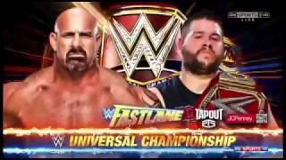 WWE Fastlane 2017 Official and Full Match Card