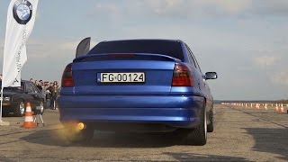 Opel Astra 3.2 V6 Turbo Extreme Anti Lag Sound & Acceleration