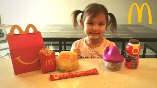 How to Make MCDONALDS Happy Meal Kid vs Food Skit  Pretend Playtime for Kids