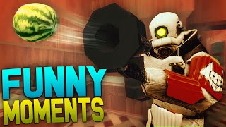 Gmod Prop Hunt Funny Moments - Flying Couch, Ninja Gas Can, Kissing Prank and more!