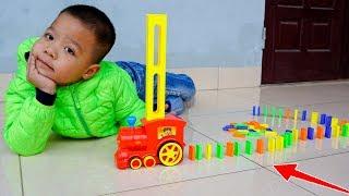 Trò Chơi Xe Tàu Lửa Xếp Dominoes - Bé Nhím TV - Đồ Chơi Trẻ Em Thiếu Nhi