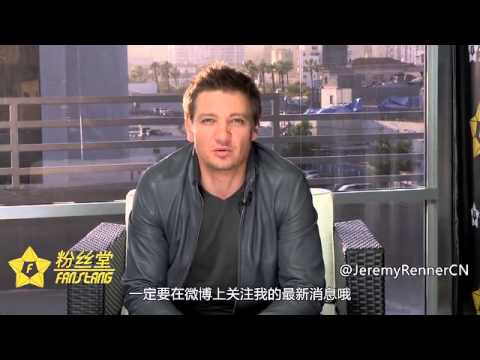Jeremy Renner greeting Chinese fans