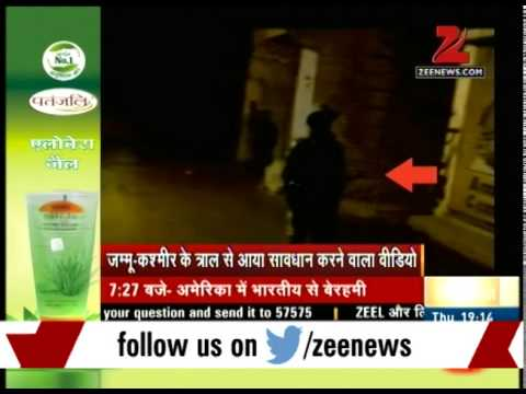 Watch: Patrolling by militants in tral area of Kashmir