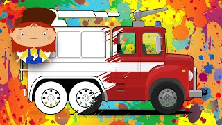 Doctor McWheelie & Fire Truck Cartoon 🚒 Fire Engine Cartoons for Kids 🎨 Learning colors for children