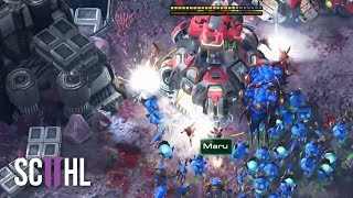 Banelings vs Planetary Fortress?! - Maru vs Leenock - Starcraft 2