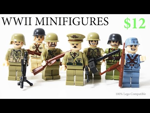 Lego WW2 German Hitler Japanese British Russian American Minifigures Toy Guns Brickarms - Review