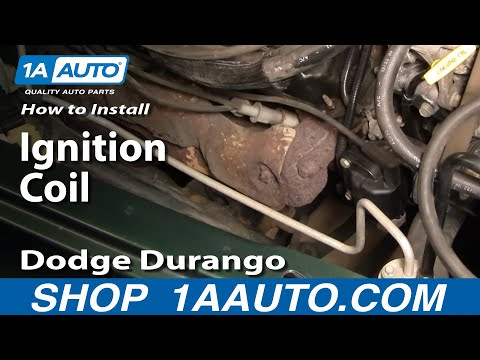 How To Install Replace Ignition Coil Dodge Durango Dakota 3.9L 5.2L 5.9L  98-03