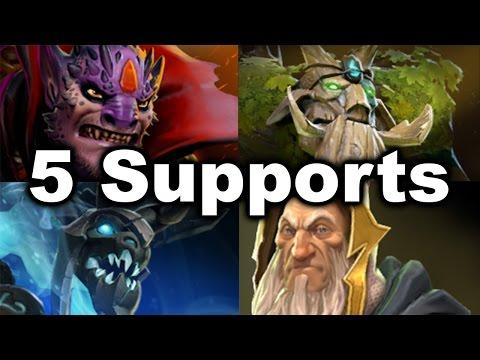 5 Supports Team vs Megacreeps! - MSS Tree Merlini Lion Dota 2