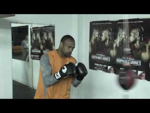 Roy Jones Jr Media Day Workout 3/22/2010 Video