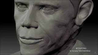 Sculpting Zbrush Portrait Obama