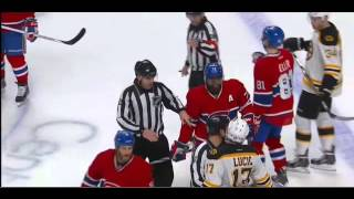 Milan Lucic runs over Jiri Sekac 11/13/14