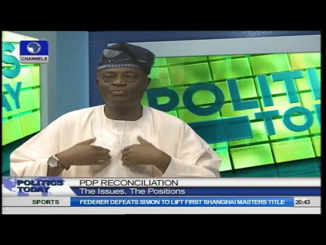 PDP Reconciliation Fracas: Ogunlewe Blames Governors For Party Crisis PT2