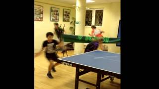 Table Tennis - training with games
