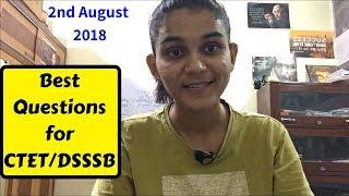 Best CDP Questions For CTET/DSSSB- 2018 | बाल विकास व शिक्षा मनोविज्ञान
