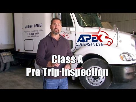 How to perform a Class A CDL Pre-Trip inspection.