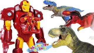 Đồ Chơi Siêu Nhân Người Nhện & Iron Man Đại Chiến Khủng Long   Câu Chuyện Đồ Chơi