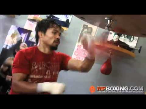 Manny Pacquiao ATTACKS THE SPEED BAG LIKE A WARRIOR! 4/9/11 Image 1