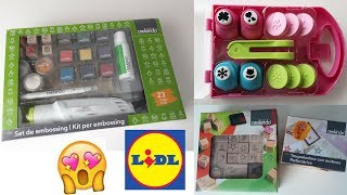HAUL LIDL - Embosser, timbri, punch ❤️
