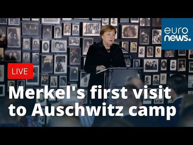 Angela Merkel39s first visit at Auschwitz camp  LIVE