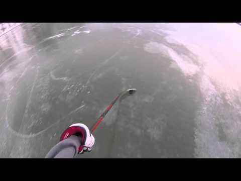 Pond Hockey On Crystal Clear Ice