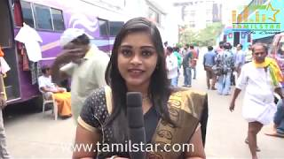 """Namitha in """"Agambavam"""" Movie Shooting Spot - Exclusive Video"""