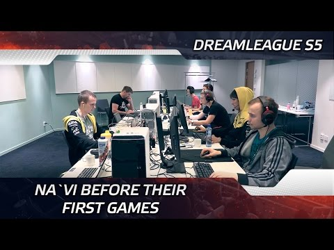 Na`Vi before their first games @ DreamLeague S5