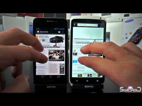 ASUS Padfone vs HTC One X browser comparison