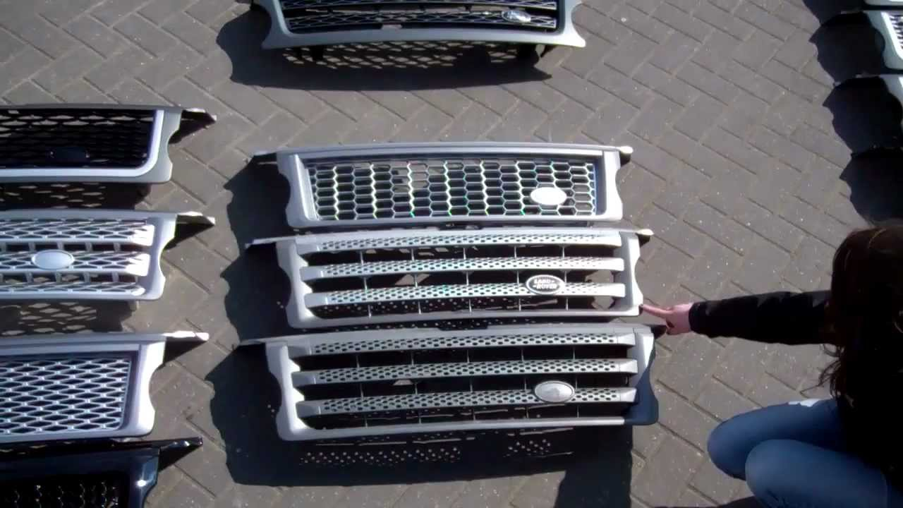 Guide To Front Grilles On Range Rover Sport Models From