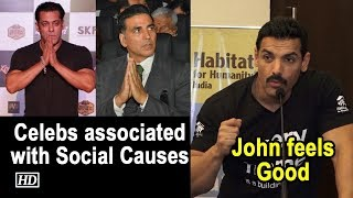 John feels nice to see B'wood celebs associated with Social causes