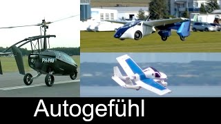 Best Flying Cars concepts: Terrafugia Transition, Aeromobil, PAL-V - which one u prefer?