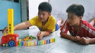 Trò Chơi Xe Tàu Hoả Xếp Domino ❤ ChiChi ToysReview TV ❤ Đồ Chơi Trẻ Em Baby Toys