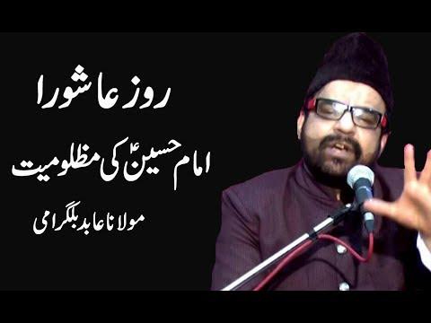 Roz-E-Ashura Imam Hussain A.S Ki Mazlomiyat ? Maulana Abid Bilgirami