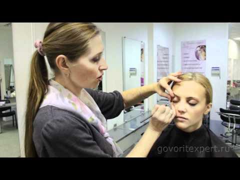 Видео как красиво накрасить глаза