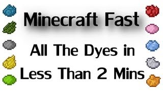 Minecraft Fast - All the Dyes in less than 2 Minutes!